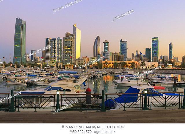 Kuwait City at Sunset, Kuwait