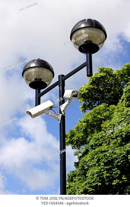 CCTV cameras on lamp post