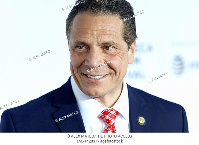 Governor of New York, Andrew Cuomo arrives at the 2017 Tribeca Film Festival Opening Night, Clive Davis: The Soundtrack Of Our Lives