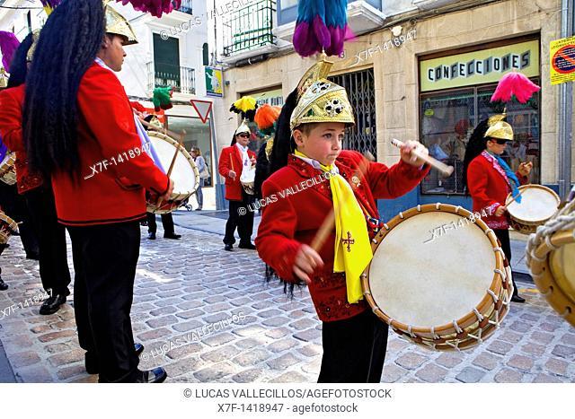 Judios colinegros Black-tailed Jews  Holy Week procession Baena  Córdoba province  Spain