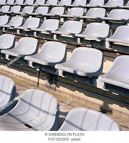 Rows of seats in stadium