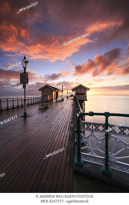 Sunrise captured from the Victorian Pier at Penarth in South Wales