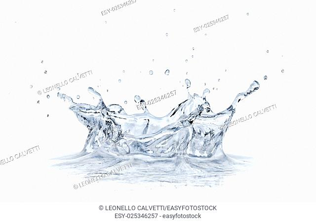 Splash water isolated on white background