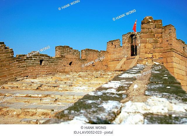 Low angle view of a historic wall, Great Wall Of China, China
