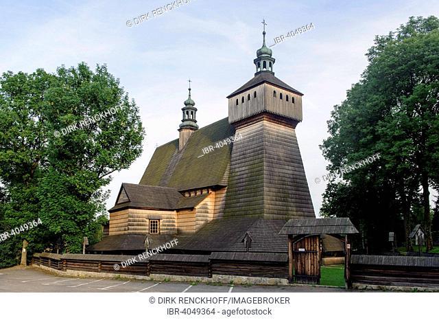 Church of the Assumption, Kosciól Wniebowziecia, UNESCO World Heritage Site, Haczów, Lesser Poland Province, Poland