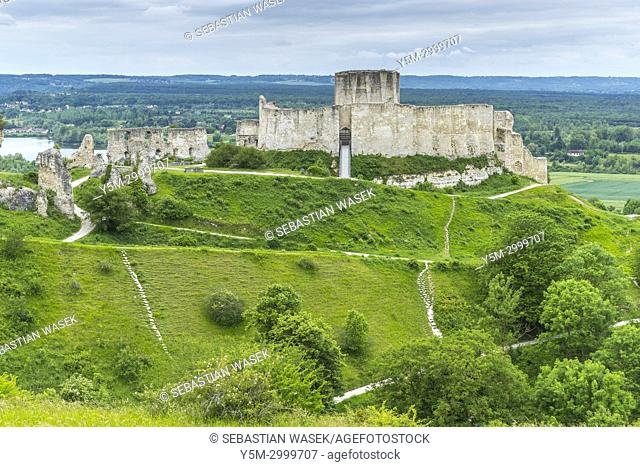 Chteau Gaillard over Les Andelys, Eure, Normandy, France, Europe
