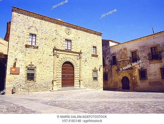 Palaces. Santa Maria Square, Caceres, Spain