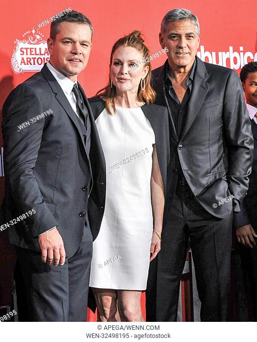 Film Premiere of Suburbicon Featuring: Matt Damon, Julianne Moore, George Clooney Where: Los Angeles, California, United States When: 23 Oct 2017 Credit:...