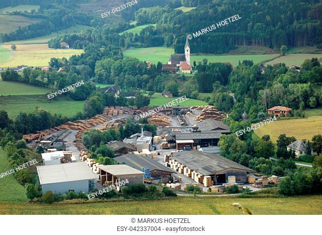 sawmill in Carinthia at the castle Hochosterwitz