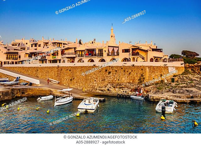 Binibeca Vell, Fishing Village. Minorca, Balearic Islands, Spain