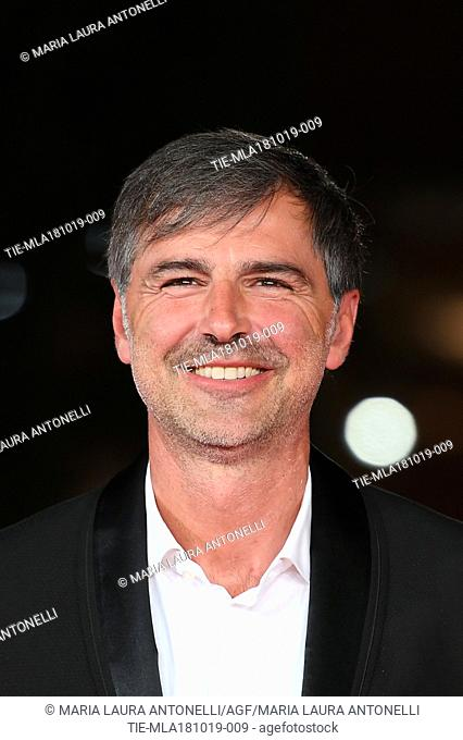 Beppe Convertini during the red carpet of film Motherless Brooklyn at the 14th Rome Film Festival, Rome, ITALY-17-10-2019