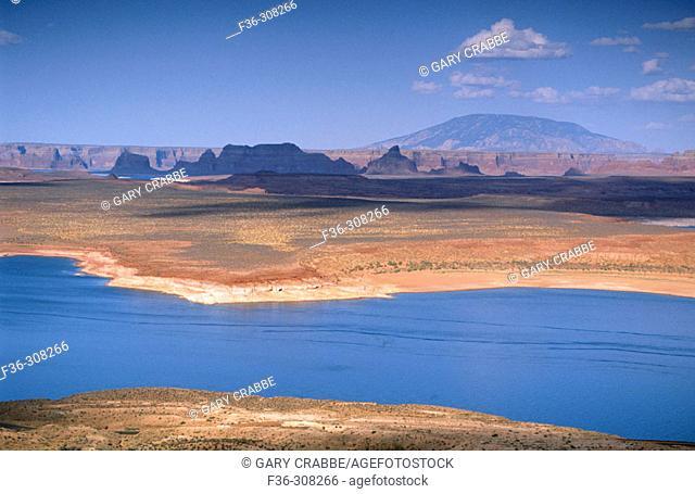 Wahweap Marina on Lake Powell. Glen Canyon National Recreation Area. Arizona, USA