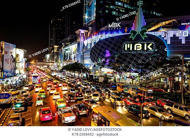 Scene from the city center, Bangkok, Thailand
