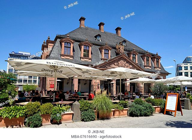 Germany, Hesse, Frankfurt on the Main, city center, Hauptwache, street café
