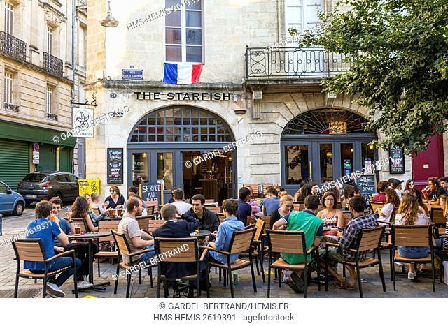 France, Gironde, Bordeaux, area classified UNESCO World Heritage, Grosse Cloche district, rue Sainte Colombe