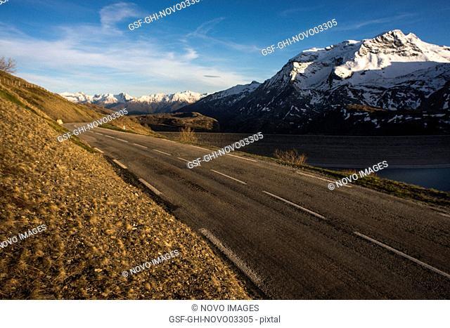 Road Through Mountain Landscape, Val Cenis Vanoise, France