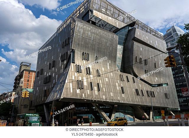 New York City, NY, USA, East Village Scenes, Manhattan District, Cooper Union University Building
