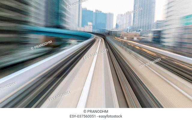 Motion blurred of City Train moving