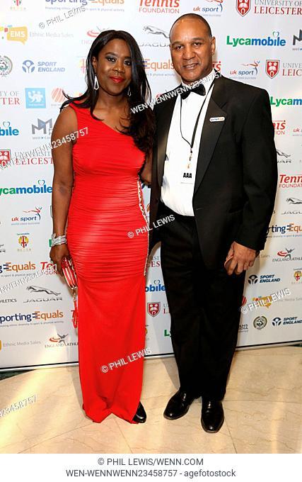 British Ethnic Diversity Sports Awards 2016 - Arrivals Featuring: Tessa Sanderson, Guest Where: London, United Kingdom When: 06 Feb 2016 Credit: Phil Lewis/WENN