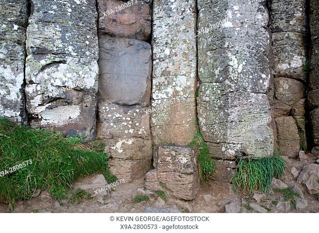 Giants Causeway Coastal Footpath; County Antrim; Northern Ireland, UK