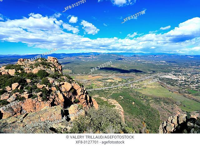 Rocher de Roquebrune sur Argens, 83, Var, Cote d'azur, PACA,
