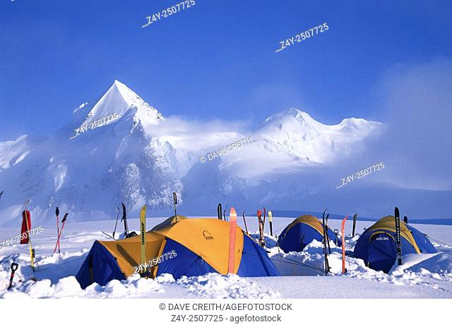 Glacier Camp, Mount Fairweather Ski Moutaineering Expedition, British Columbia / Alaska border