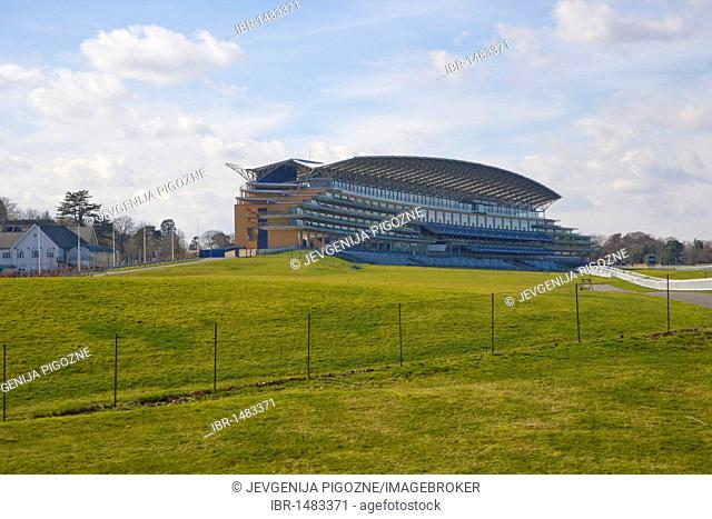 The new grandstand, completed in 2006, Ascot Racecourse, Berkshire, England, United Kingdom, Europe