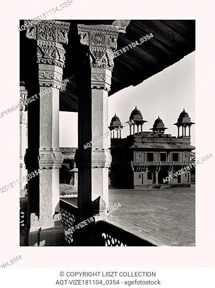 India, Fatehpur Sīkri, Jodh Bai's Palace, 1968 or earlier, Cities of Mughul India