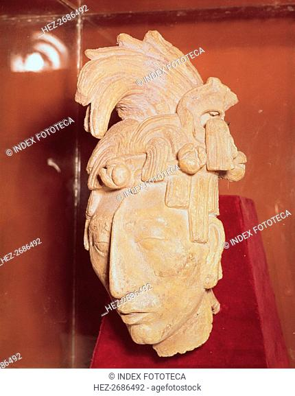 Warrior Head in the Temple of Inscriptions at Palenque