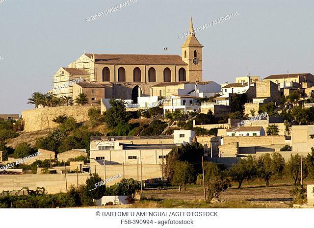 Santa Margalida overview. Majorca. Balearic Islands. Spain