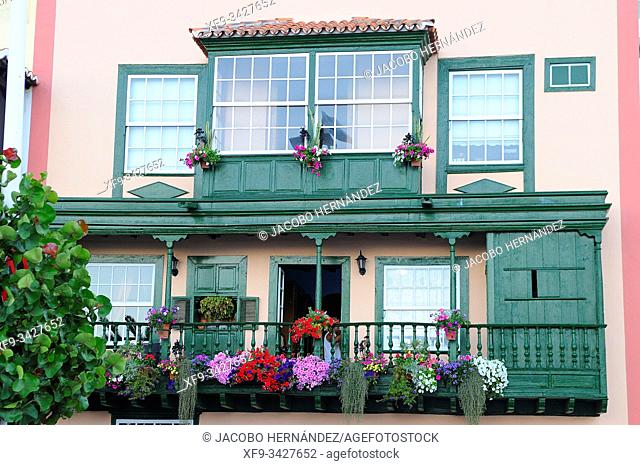 Detail of typical house. Santa Cruz de La Palma. La Palma. Canary Islands. Spain