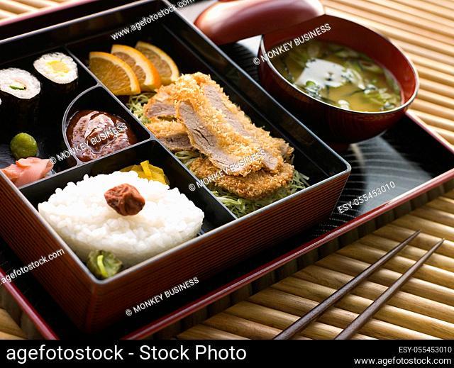 menu, japanese cuisine, bentobox