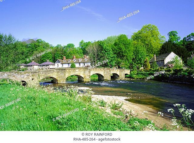 Holme Bridge near Bakewell, Peak District National Park, Derbyshire, England, UK