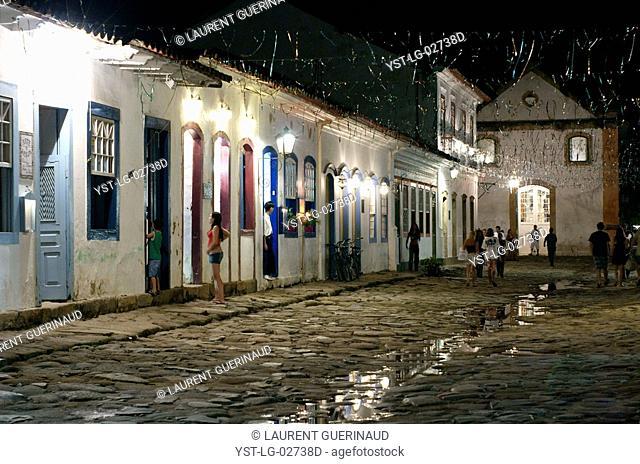 City, Street, Paraty, Rio de Janeiro, Brazil