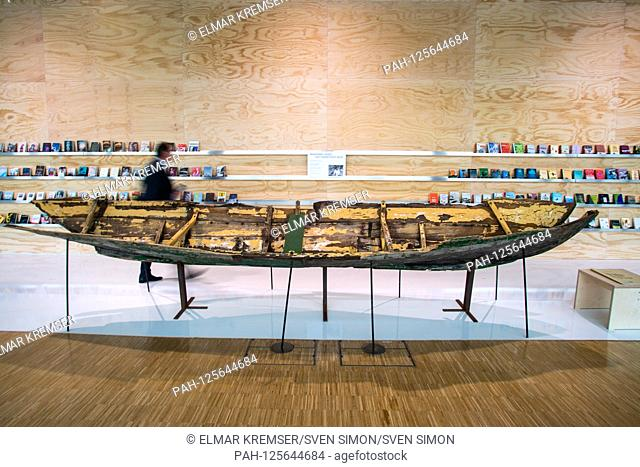 """Installation """"""""Wittgenstein's boat"""""""" by artist Marianne HESKE (not pictured), an element in the guesthouse, feature, general, border motif"""