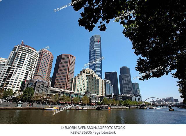 Southbank and Yarra River. Melbourne, Victoria, Australia