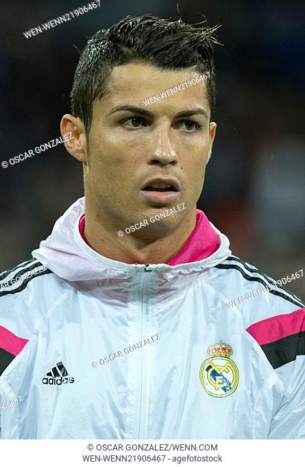 La Liga match between Real Madrid and Rayo Vallecano at the Santiago Bernabeu stadium Featuring: Christiano Ronaldo Where: Madrid