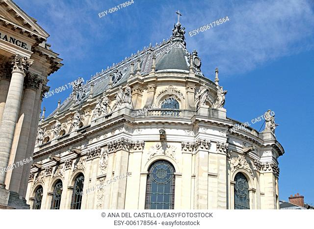 France, Yvelines, Chateau de Versailles, Royal Courtyard chapel