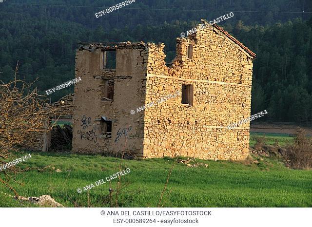 Spring landscape in the Gudar mountains, Virgen de la Vega, Alcalala de la Selva, Teruel province, Spain