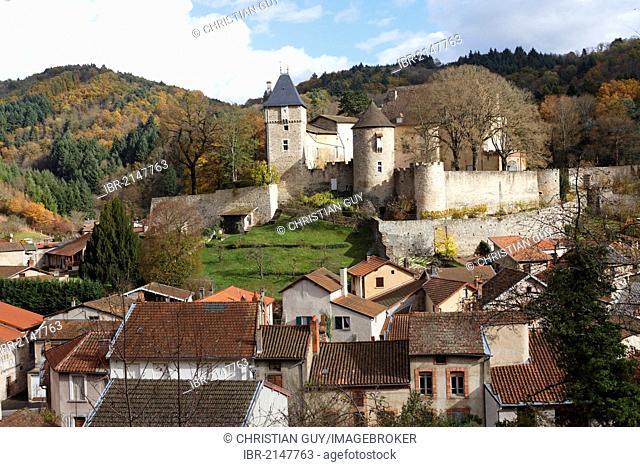 Village of Chateldon, Livradois Forez natural park, Puy de Dome, Auvergne, France, Europe