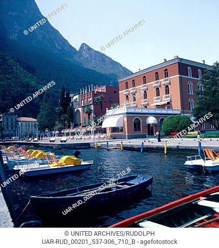 Urlaub in Riva del Garda am Gardasee, Italien 1970er/1980er Jahre. Vacation in Riva del Garda at Lake Garda, Italy 1970s/1980s