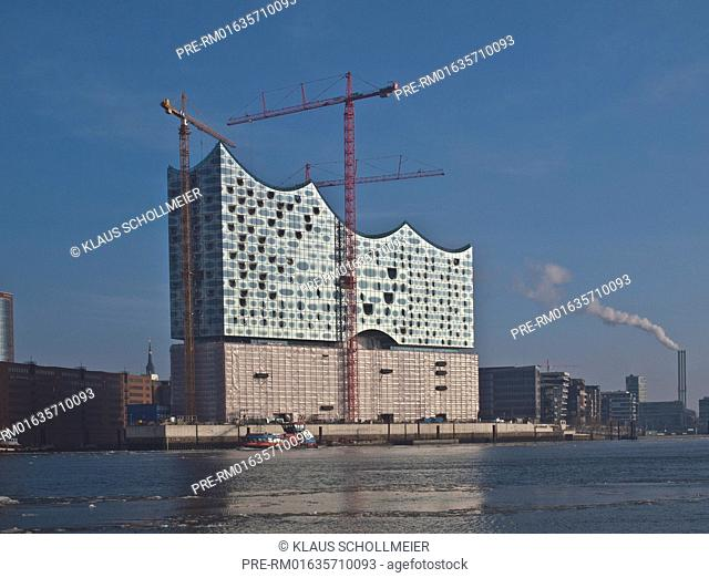 Elbphilharmonie, HafenCity, Hamburg, Germany, Date of photography: 05.02.2014 / Elbphilharmonie, HafenCity, Hamburg, Deutschland, Aufnahmedatum: 05.02