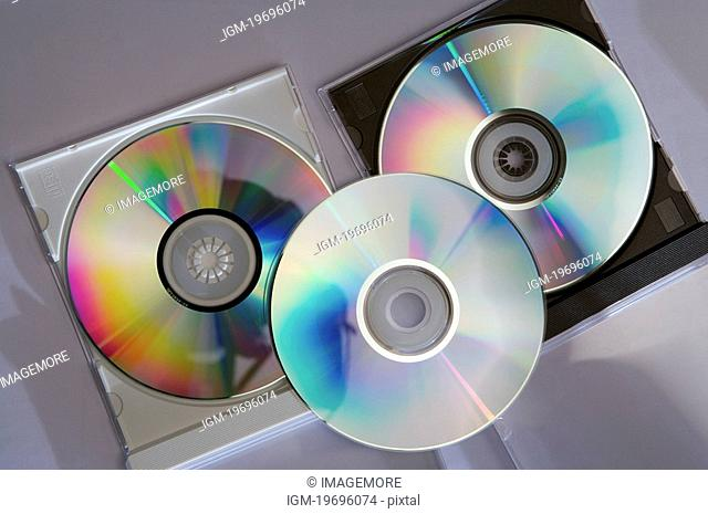 Close up of compact disk in a plastic cover