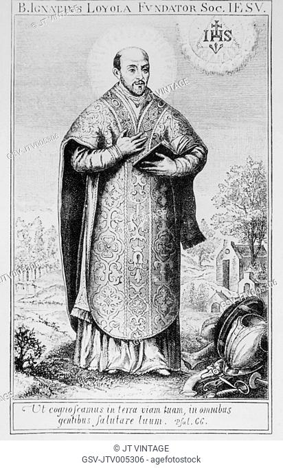 Ignatius of Loyola (1491-1556), Spanish Priest & Theologian and Founder of Society of Jesus (Jesuits), Portrait