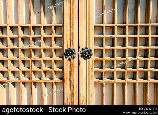 Korean traditional wooden door