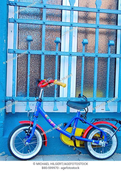 Children's bicycle. Kiel, Germany