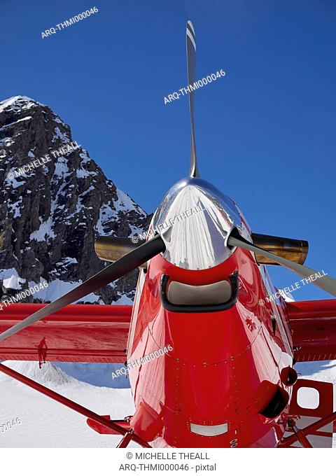 Close-up Of Airplane In Denali National Park, Alaska, Usa