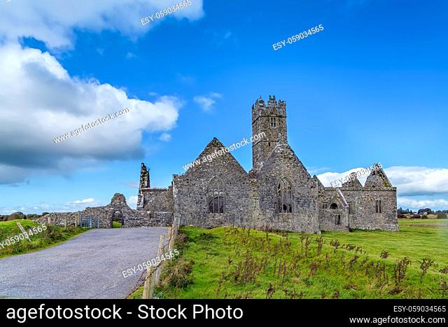 Ross Errilly Friary is a medieval Franciscan friary located about a mile to the northwest of Headford, County Galway, Ireland