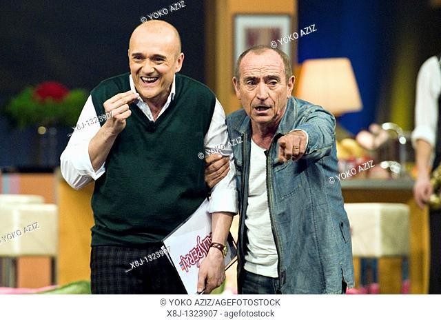 Kalispera telecast Canale 5 Mediaset, 26 01 2011, Milan, Italy  Alfonso Signorini and Raul Casadei