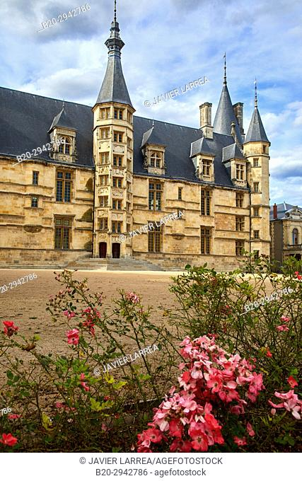 The Palace of the Dukes, Palais Ducal, Nevers, Nievre, Bourgogne, France, Europe